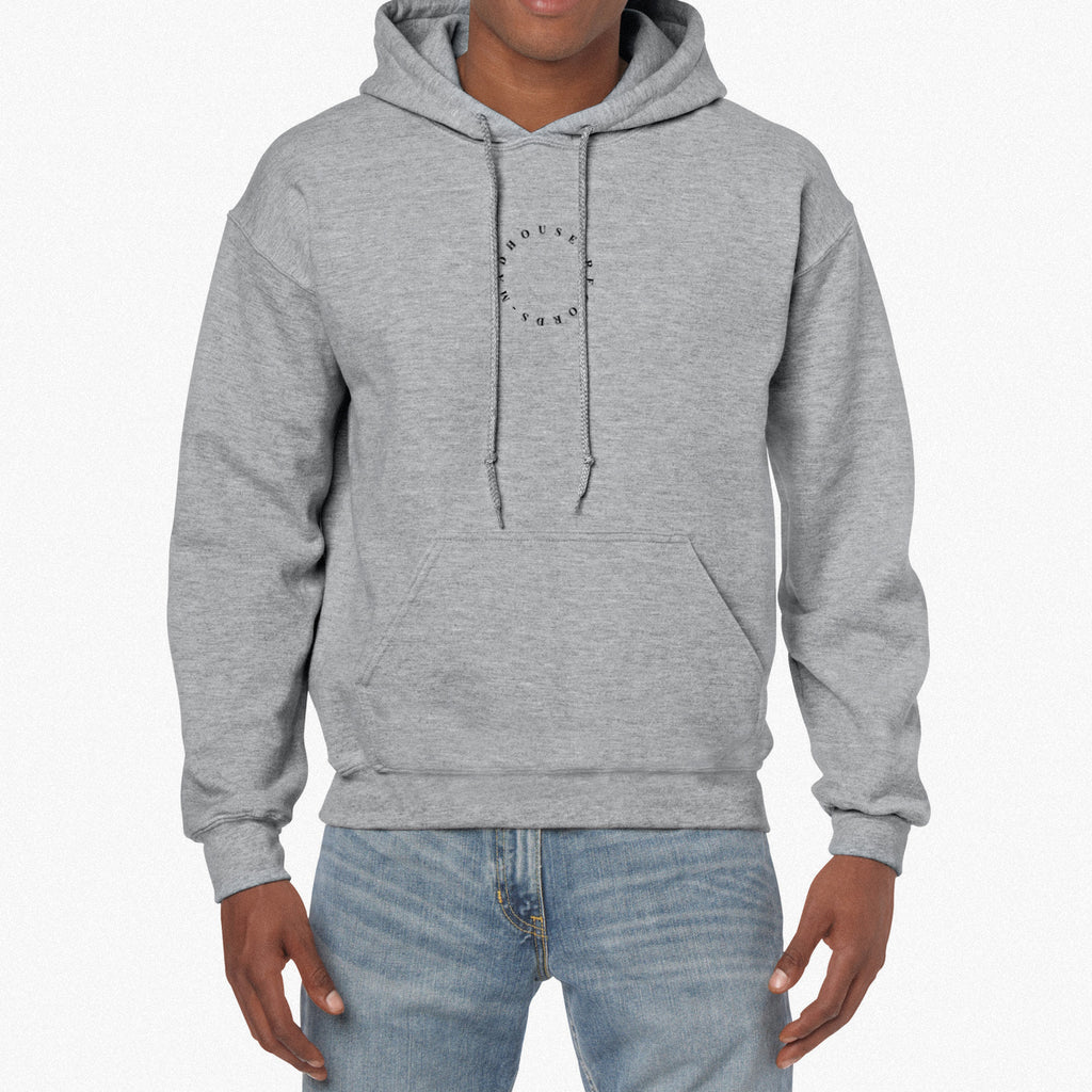 Heather Grey Embroidered Hoodie *BRAND NEW*