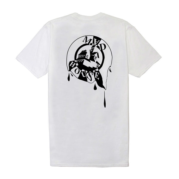 'Melting' Tee - White (Black Logo)
