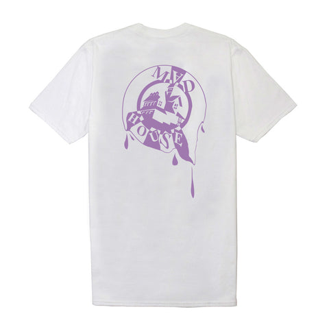 'Melting' Tee - White (Purple Logo)