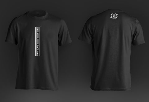 'House Tee' - Black - '25 Years' Collection