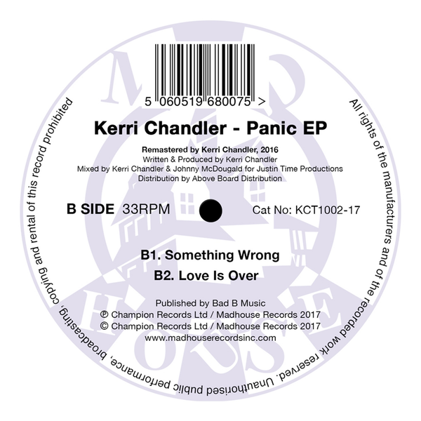 "Kerri Chandler - Panic EP (12"" Vinyl) (Re-Issue)"