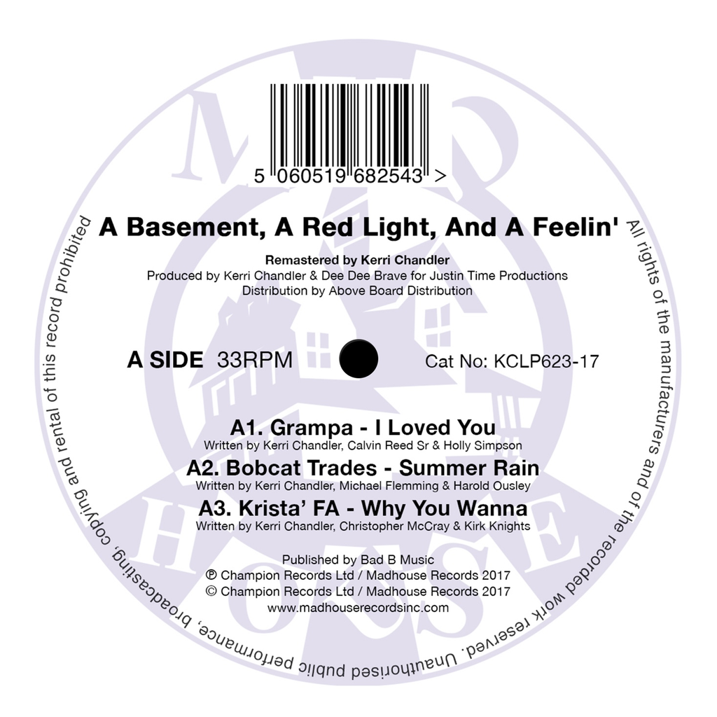 "Kerri Chandler - A Basement, A Red Light & A Feeling - Vol.1 - (12"" Vinyl) (Remastered)"