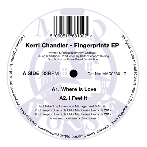 "Kerri Chandler - Fingerprintz EP (12"" Vinyl) (Re-Issue)"