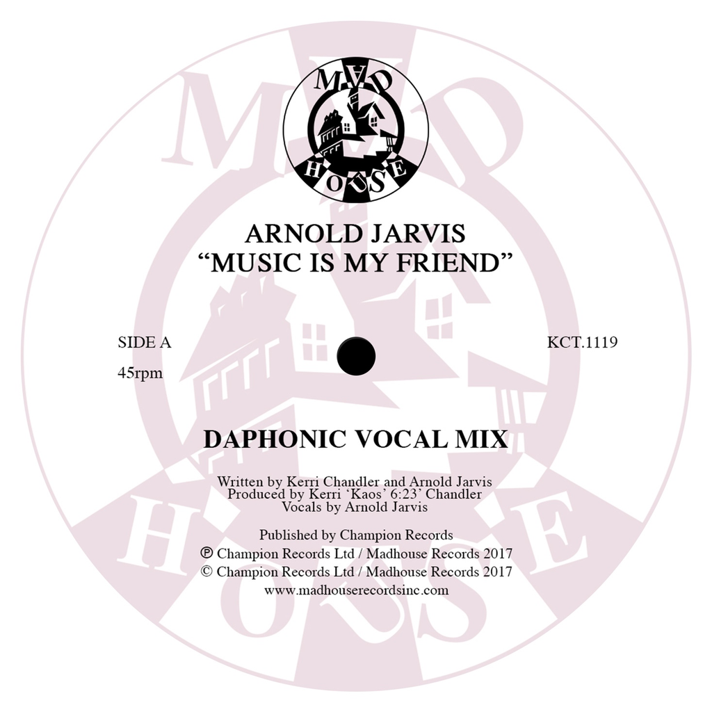 "Arnold Jarvis - Music Is My Friend (12"" Vinyl)"