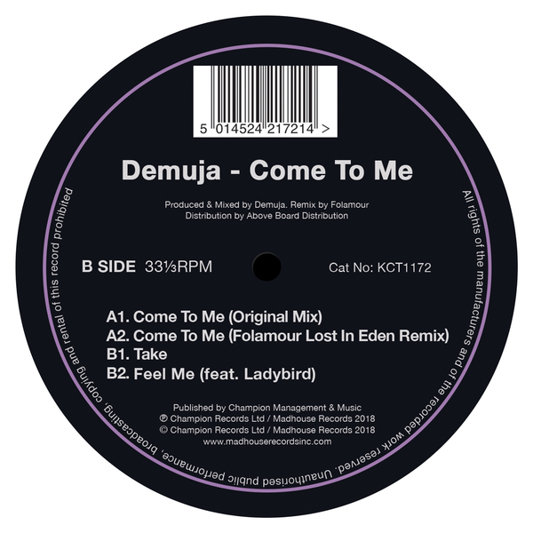 "Demuja - Come To Me (12"" Vinyl)"