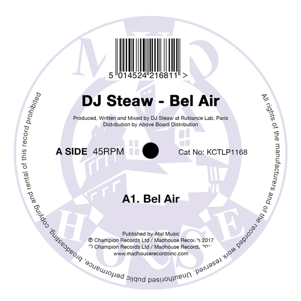 "DJ Steaw - Bel Air (12"" Vinyl)"