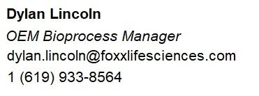 Dylan Lincoln of Foxx Life Sciences