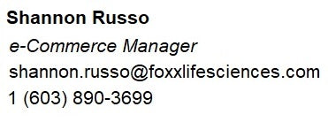 Shannon Russo of Foxx Life Sciences