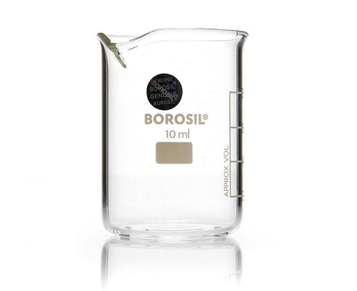 Borosil® Low-Form Glass Beakers with Spout - 10mL - CS/20