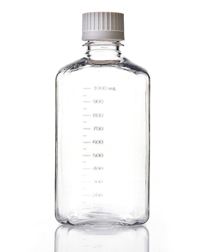 EZBio® Bottle, PETG, Sterilized, 1L, Closed Cap, pk/12