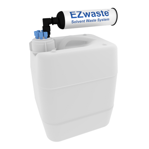 "EZWaste® UN/DOT Filter Kit, VersaCap® 51S, 6 ports for 1/16"" OD Tubing with 10L Container"