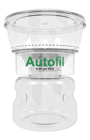 12/case 250ml Autofil® .45μm High Flow PES Bottle Top Filter, Full Assembly