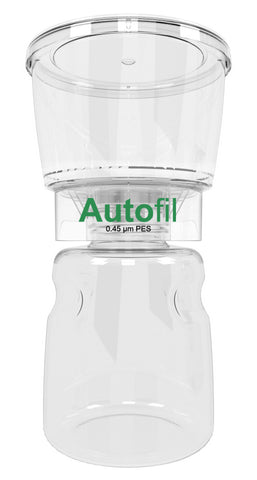 12/case 500ml Autofil® .45μm High Flow PES Bottle Top Filter, Full Assembly