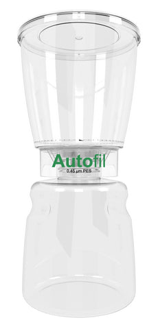 12/case 1000ml Autofil® .45μm High Flow PES Bottle Top Filter, Full Assembly