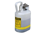 Oval Safety Can for flammables, S/S hardware, flame arrester, 1 gallon, self-close cap, poly