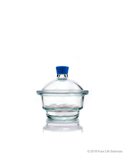 Borosil® Desiccator With Cover and Porcelain Plate, Plastic Knob, Borosilicate Glass 150 mm CS/1