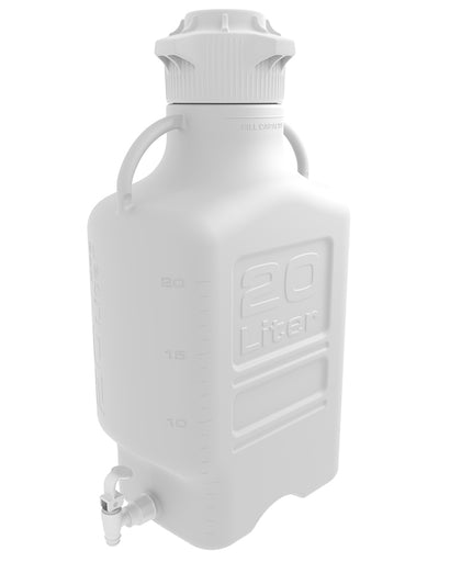 20L (5 Gal) PP Carboy with 120mm Cap and Spigot