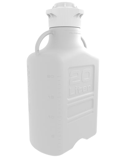 EZBio® Carboy, PP, 20L, No Spigot, VersaCap® 120mm, Double Bagged, Non Sterile