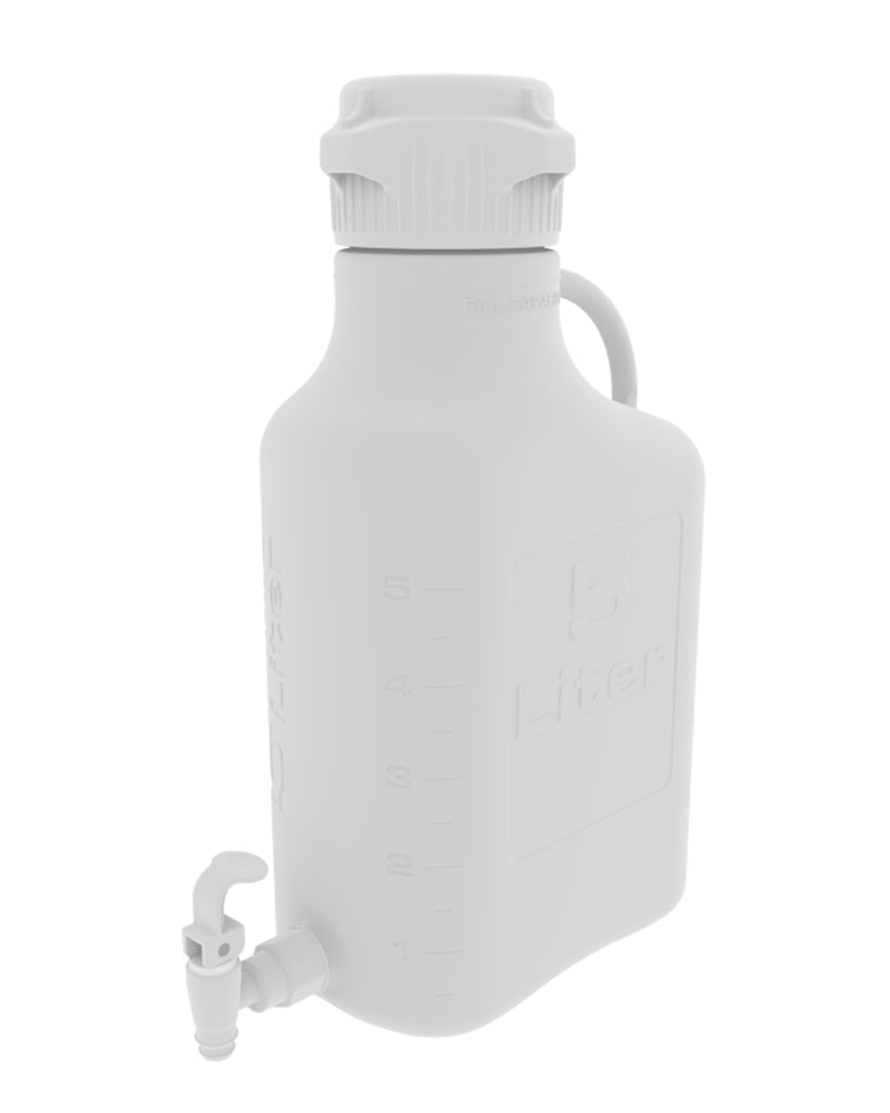 5L (1 Gal) PP Carboy with 83mm Cap and Spigot