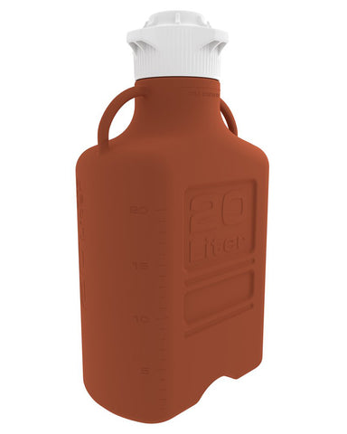 20L (5 Gal) Amber HDPE Carboy with 120mm Cap