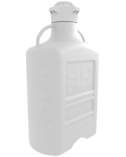 EZBio® Carboy, PP, 40L, No Spigot, VersaCap® 120mm, Double Bagged, Non Sterile