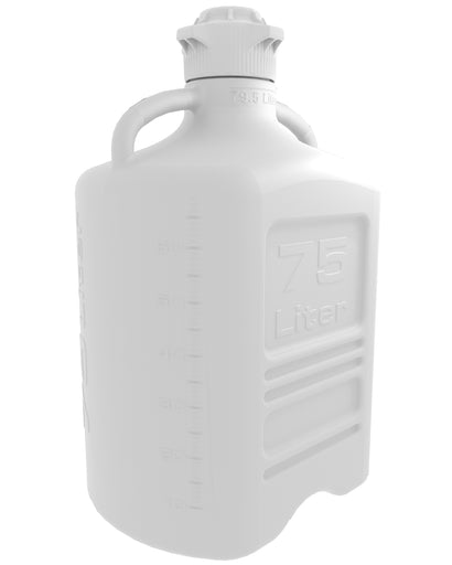 EZBio® Carboy, PP, 75L, No Spigot, VersaCap® 120mm, Double Bagged, Non Sterile