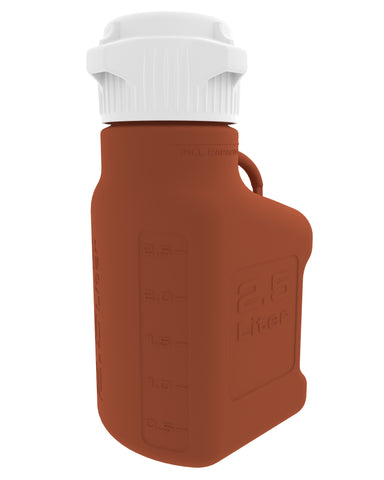 2.5L (0.5 Gal) Amber HDPE Carboy with 83mm Cap