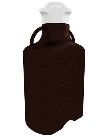 20L (5 Gal) Dark Amber PP Carboy with 120mm Cap