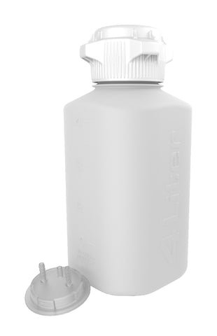 "4L PP Heavy Duty Vacuum Bottle, with 1/4"" Hose Barb Adapter"