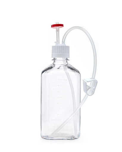 EZBio®, Single-Use Bottle Assembly, 1L, 38-430 VersaCap, PC, Vented w/ DipTube, 10/cs
