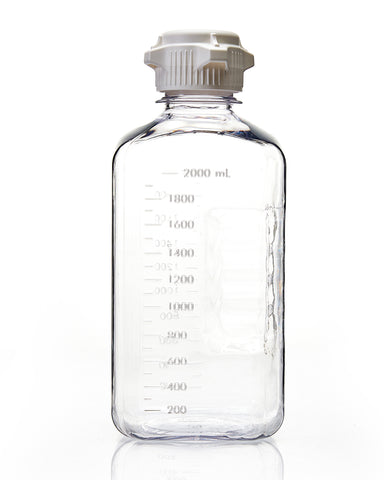EZBio® Bottle, PETG, Sterilized, 2L, Closed Cap, pk/6