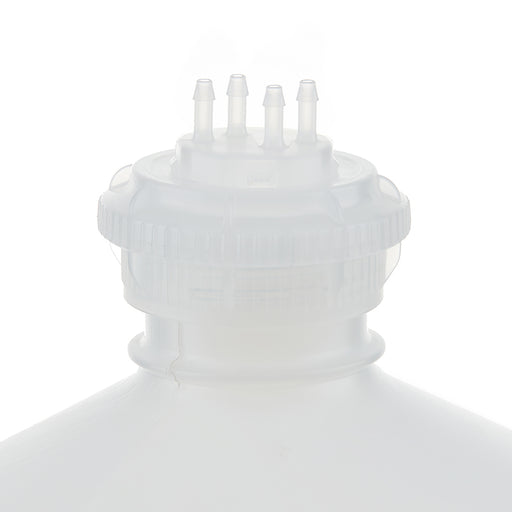 "EZBio® GL45 Open Cap & Molded 4x 1/8"" HB, Natural PP for Plastic Bottles"