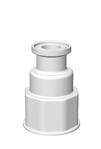 "Spigot Fitting, VersaBarb®, 1 1/8 Thread, 3/4"" Sanitary Connector"