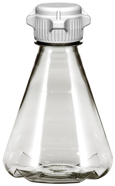1L EZclear® Baffled Erlenmeyer Flask w/ 53mm VersaCap®, Not Sterile
