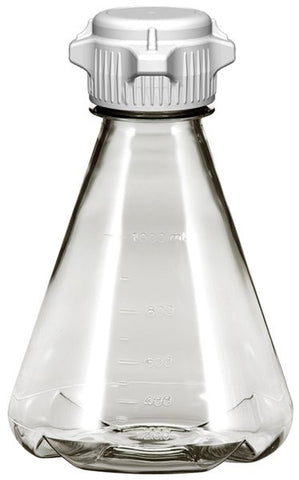 1L EZclear® Baffled Erlenmeyer Flask w/ 53mm VersaCap®, Sterile