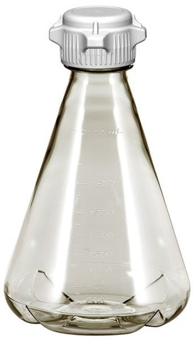 2L EZclear® Baffled Erlenmeyer Flask w/ 53mm VersaCap®, Not Sterile