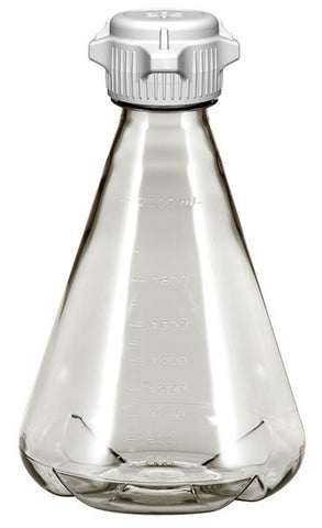 2L EZclear® Baffled Erlenmeyer Flask w/ 53mm Vented VersaCap®, Sterile