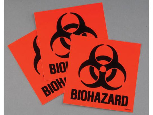 Label Kit for Biohazard cans, 3 labels and instructions, Code Compliant for California - SolventWaste.com