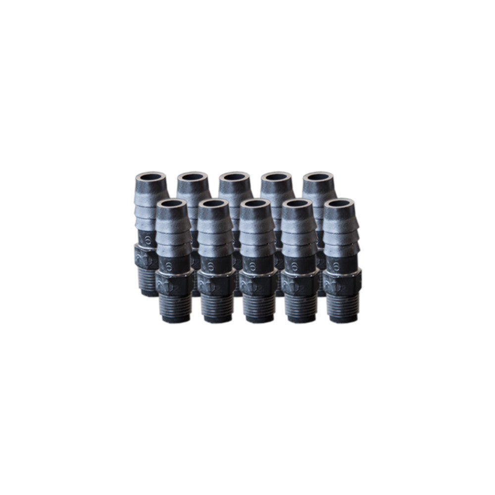 "EZwaste® Replacement 1/8"" MNPT x 3/8"" HB fittings, 10/pack"
