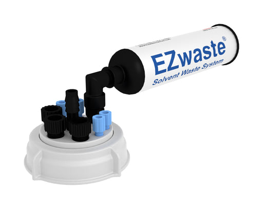 "EZWaste® UN/DOT Filter Kit, VersaCap® S70, 4 ports for 1/8"" OD Tubing, 4 port for 1/4"" HB or 4 port for 3/8"" HB and One Exhaust Filter, w/ Plugs"