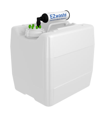 "EZwaste® UN/DOT Filter Kit, VersaCap® 70S , 6 ports for 1/16"" OD Tubing with 13.5L Container"