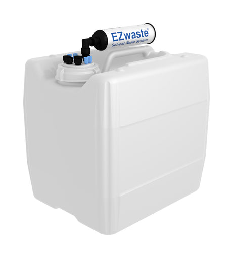"EZwaste® UN/DOT, VersaCap® 70S , 4 ports for 1/8"" OD Tubing, 4 ports for 1/4"" OD Tubing with 13.5L Container"