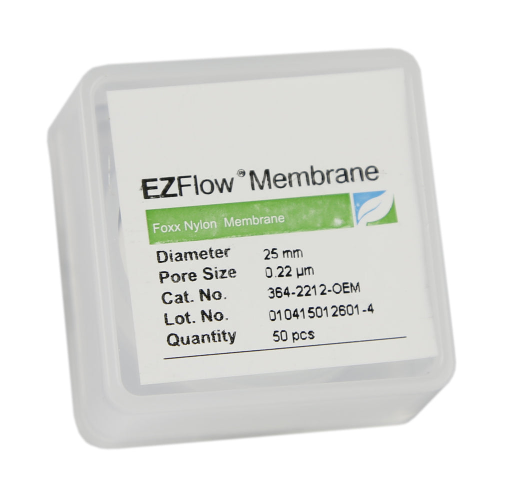 50 pack EZFlow® 25mm 0.2µm Nylon Membrane Disc Filter