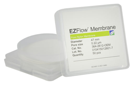 50 pack EZFlow® 47mm 0.2µm Nylon Membrane Disc Filter
