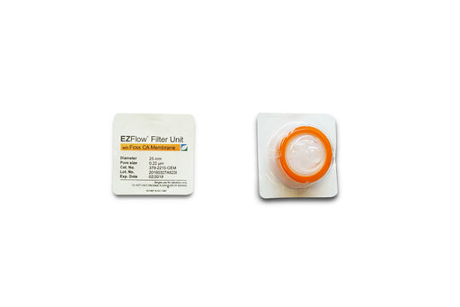 EZFlow® Syringe Filter, CA, 0.22µm, 25mm, Sterile, 100/pack