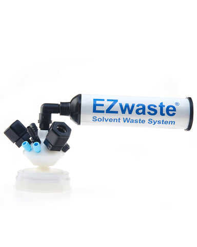 "EZWaste® Universal Stackable HPLC VersaCap® S70 UN/DOT Solvent Waste Cap Assembly, W/ Exhaust Filter, 6x OD Tube-3.2 mm (1/8"") & 1.6 mm (1/16""), 3x Hose Barb 3.2mm(1/8"") & 9.5mm(3/8""), 3x OD Tube 12.7 mm (1/2""), 1/EA"