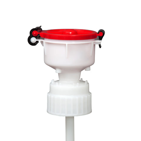 "EZwaste® 4"" Safety Funnel, HDPE, VersaCap 83B"