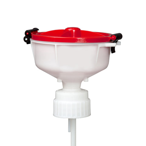 "EZwaste® 8"" Safety Funnel, HDPE, VersaCap 83B"