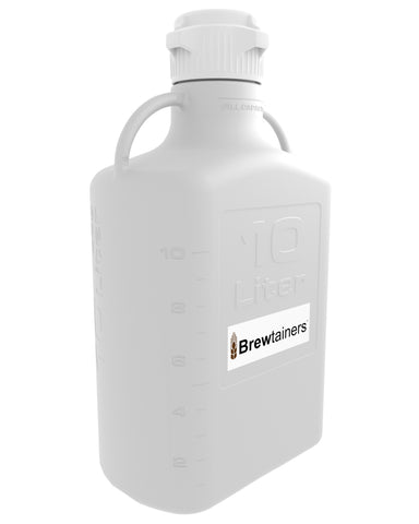 Brewtainers Polypropylene 10L (3.44 Gal Max) Homebrew Yeast Container with leakproof Tight Sealed 83mm Cap
