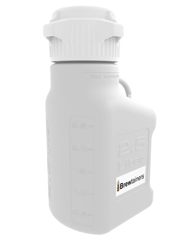 Brewtainers Polypropylene 2.5L (.86 Gal Max) Homebrew Yeast Container with leakproof Tight Sealed 83mm Cap